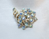 Lovely for spring AB Rhinestone Brooch