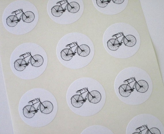 Bicycle Stickers One Inch Round Seals