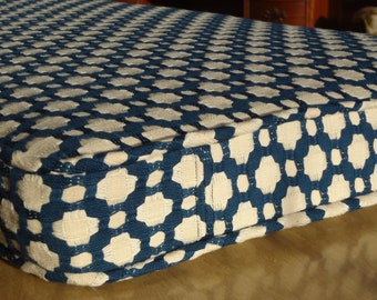 """Bench Seat Cushion Cover, Custom, Your Fabric Selection, 42"""" x 15 1/4"""" x 2"""", Includes piping and zipper. Made to Order. You Pay Shipping"""