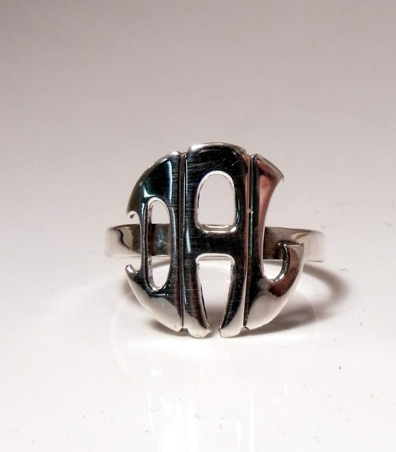 Initial Ring Sterling Silver RF048