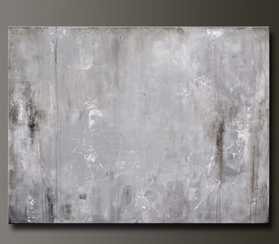 Morning Mist - 30 x 40 - Abstract Acrylic Painting- Contemporary Wall Art - Urban Feel- Published in the West Elm Blog