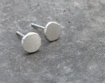 Sterling Silver Earrings - Round Silver Earrings