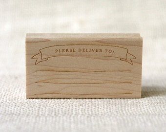 Rubber Stamp - Please Deliver To