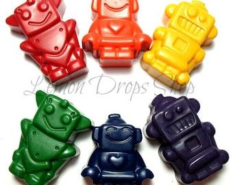 Robot crayons set of 6