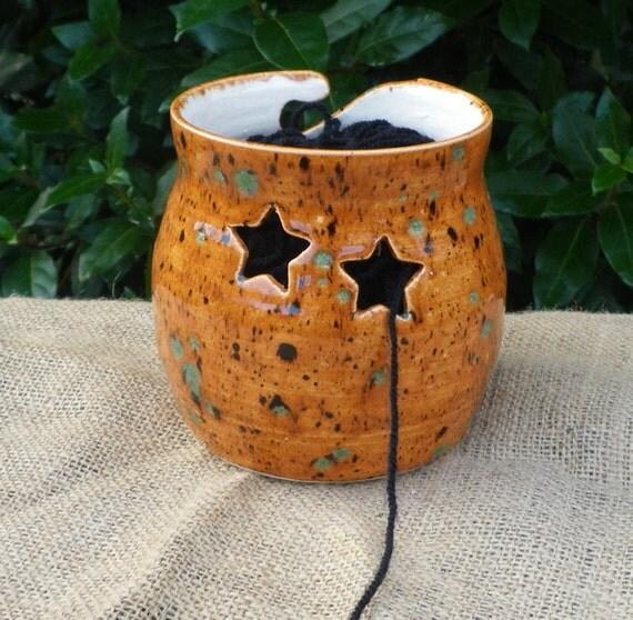 Yarn bowl knitting or crochet wool hand thrown pottery ceramic