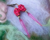 SALE Pink Skull Dia De Los Muertos