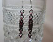 Burgundy Byzantine Earrings