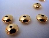 14k gold 7mm saucer bead