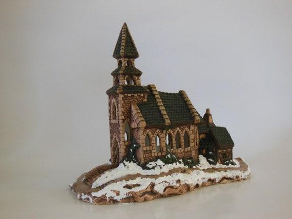 Christmas Village Church - Handpainted Ceramic