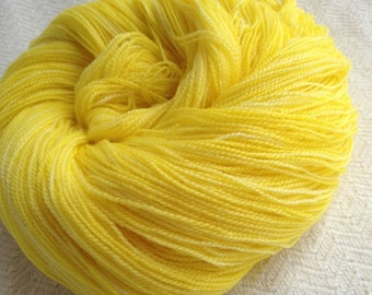 No Scurvy Bag of Lemons Sunshine Yellow LACE yarn superwash merino bamboo blend 875 yards