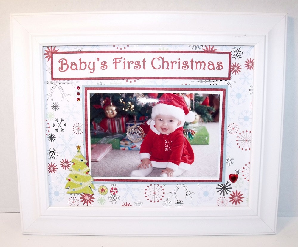 Baby S First Christmas Picture Frame By Memoreasykeepsakes