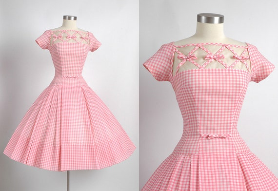 1950&-39-s Vintage Designer Seymour Jacobson Pink by hemlockvintage