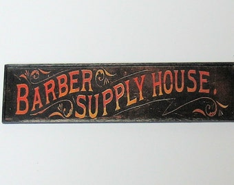 Miniature Barber Supply Sign - 1/12th scale