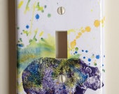 Grizzly Bear Art Decorative Light Switch Plate Cover Great for Decoration for Kids Room Baby Nursery Art Decor