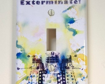 Doctor Who Dalek  Decorative Light Switch Plate Cover