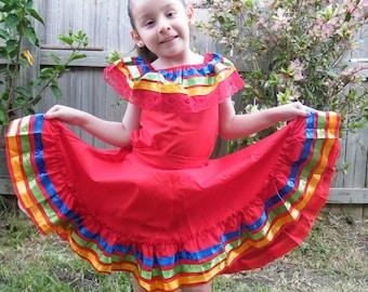 1 yr old Mexican Fiesta Dress