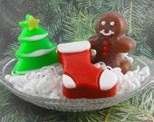 Soap - Holiday Trio - Glycerin - Guest Soap - Christmas Soap - SoapGarden