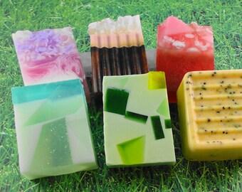 Sample Basket Of Soaps - Glycerin Soap Favorites - Handmade Soap - Gift Basket - Artisan Soaps - Variety Pack of Soaps - SoapGarden