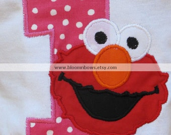 Elmo Birthday Shirt or Onesie with Birthday Number