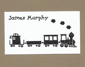 Choo Choo Train Calling Cards - Gift Enclosure Cards
