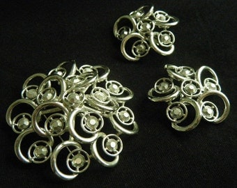 Sarah Coventry Vintage  Brooch and Earring Set Celestial Ice...SALE
