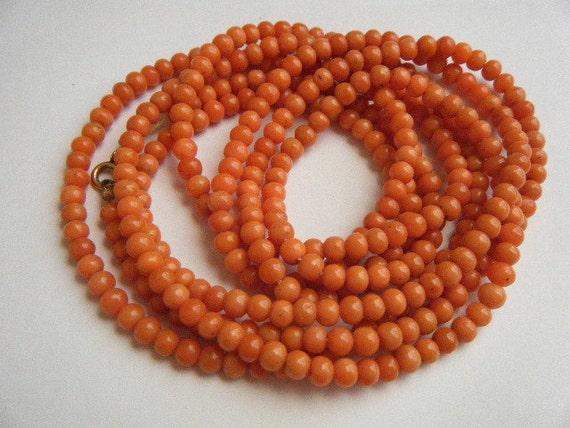 Reserved for Jessica...Vintage Necklace Genuine Natural Coral Beads Stunning