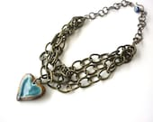 Heart in a Tangle Chain Necklace