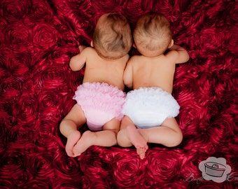 Pink Baby Bloomer, chiffon ruffle diaper cover, photo prop, newborn ruffle bloomer, Baby Girl Bloomer, Ruffle bum bloomer, Ready to ship
