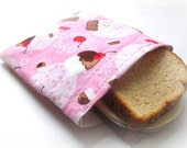 Reusable Sandwich Bag -- Cherry Cupcakes