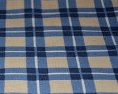 Car Seat Cooler Pad - Blue and Brown Plaid - MADE TO ORDER