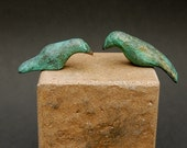 L O V E - B I R D S  ....Two small bronze birds, accessory or stand alone to my couples sculptures. anniversary gift for woman