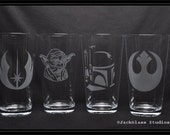 May The 4th Be With You 10% OFF Star Wars Pint Set The Force Awakens Yoda Hans Solo Millenium Falcon