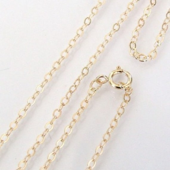 22 Inch - 14K Gold Filled Cable Chain Necklace -  Custom Lengths Available, Made in USA/Italy