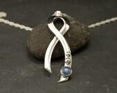 Opal Necklace- Opal Pendant- Sterling Silver Pendant -Silver Necklace with Opal- Blue Stone Necklace- Sterling Silver Jewelry Handmade