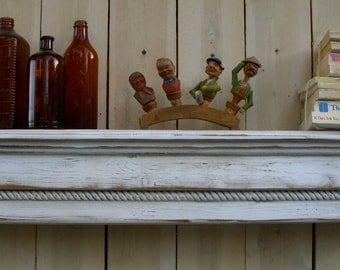 "Living Room Decor - Floating Shelf - Rustic Wooden Shelves - Solid Wood - Wooden Shelf -  Shabby Furniture - Cottage Chic - 40"" Long"