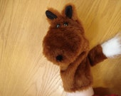 Red Fox with White Tipped Tail Hand Puppet