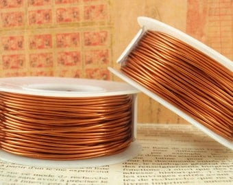 Amber Wire  - Permanently Colored Enameled Copper - 100% Guarantee - YOU Pick the Gauge 12, 14, 16, 18, 20, 22, 24, 26, 28, 30, 32