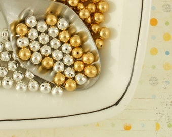 Memory Wire Bead Caps - 3mm or 5mm Silver, Gold, Gunmetal or Antique Gold Plated
