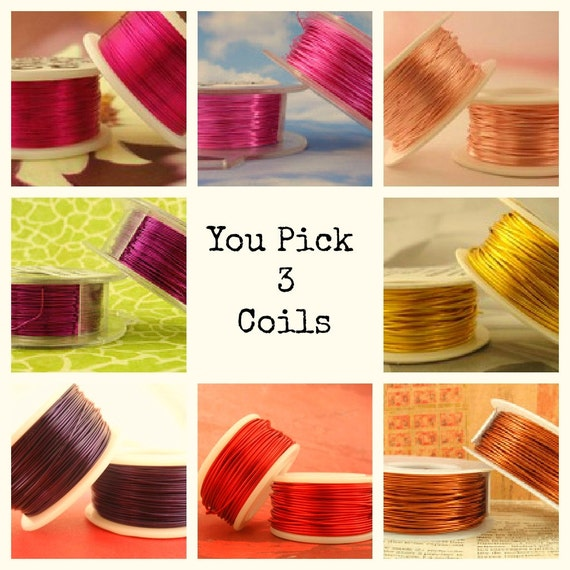 20 gauge Wire Special - YOU Pick 3 - Enameled Coated Copper