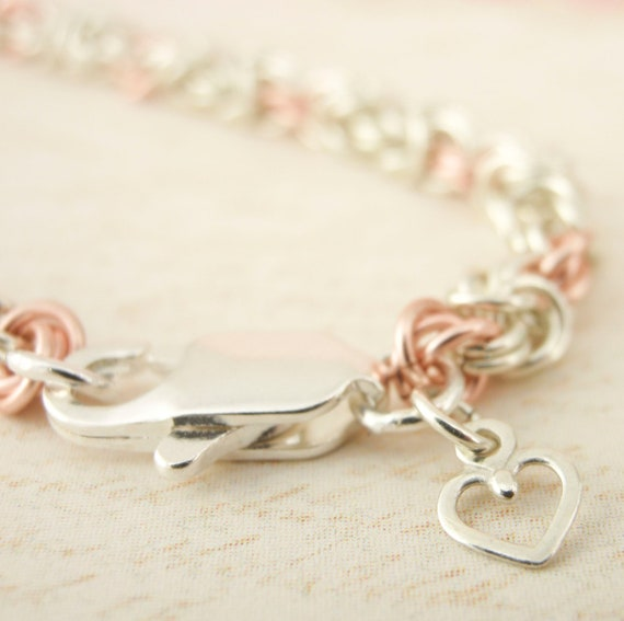 Byzantine Rose Bracelet KIT - Wee Maille 22 gauge Chainmaille