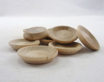 """Miniature wooden plate 1 1/2"""", wooden plate, dollhouse plate, small wooden plate, wood plate, DIY unfinished set of 6"""