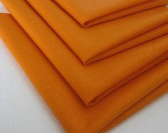 Cloth Napkins - Orange - 100% Cotton Napkins