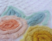 vintage chenille fabric (cutter piece from a bedspread)