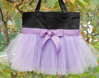 Ballet tote bag, Embroidered dance bag, Black Tote Bag, dance bag, dance bags, Personalized tote bag, tutu tote bag,Tutu dance Bag  TB787  D
