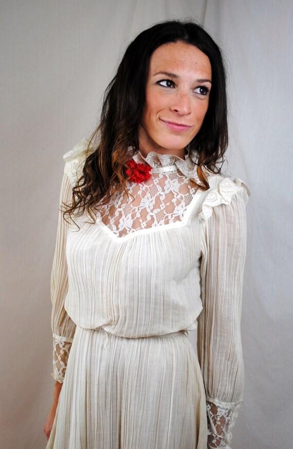 Vintage 1970s Act I Gauzy Dress