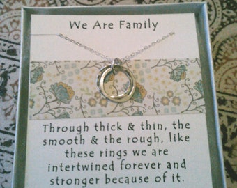We are Family Necklace- Perfect gift for Mom, Sister, Aunt, Cousin, or Family Friend
