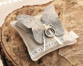 Wedding Ring pillow butterfly in your favourite color with date (bearer)