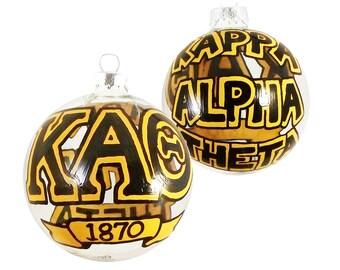 Handpainted Glass Kappa Alpha Theta Ornament