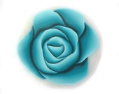 Rose Cane Polymer Clay Cane Millefiori Turquoise Rose