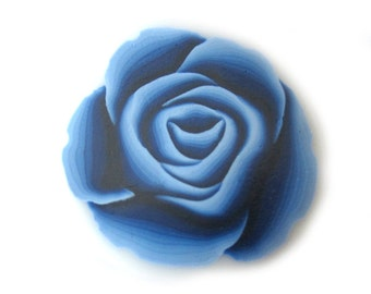 Navy Blue Rose Cane Polymer Clay Cane Millefiori Navy Blue Rose Cane